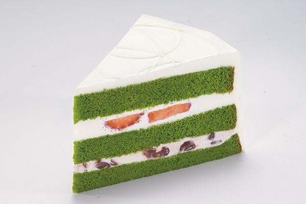 いちごと抹茶のケーキ