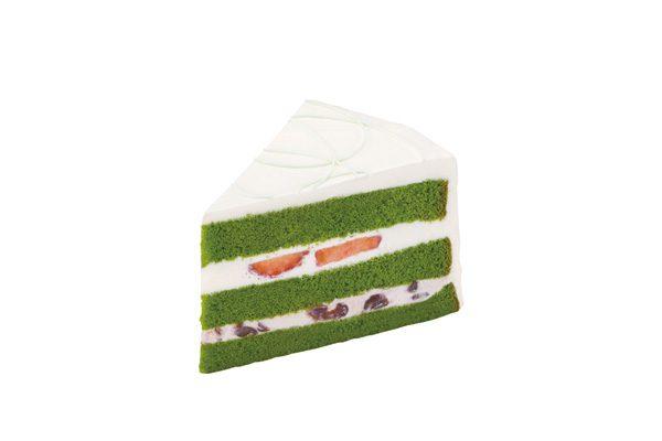 いちごの抹茶のケーキ